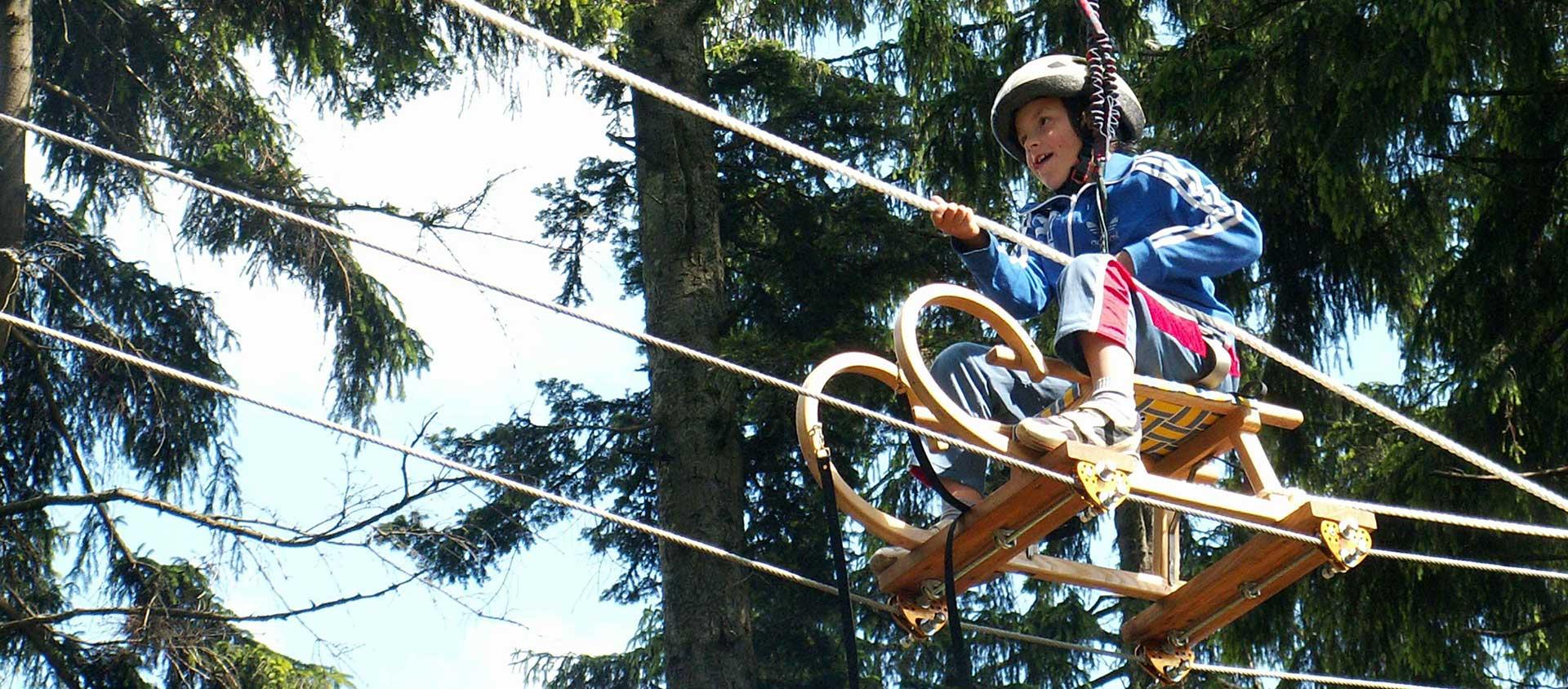 Spaß für Jung & Alt im Hochseilpark im Böhmerwald - Ramenai